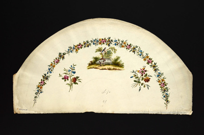 English Fan Leaf; c.1790; LDFAN2010.32