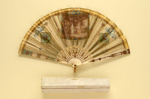 Folding Fan & Box; c. 1910 - fan; LDFAN2010.113.A & LDFAN2010.113.B