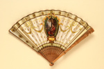 Advertising fan for Carlton Hotel and Restaurant, London; Duvelleroy; LDFAN2013.42.HA