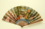 Folding fan advertising Les Pastilles Vichy, France; Ganné, J; c.1890; LDFAN2011.62