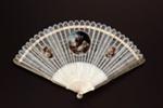 Ivory brisé painted fan, European; c. 1790; LDFAN1991.24
