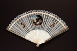 Ivory brisé painted fan, European; c. 1790; LDFAN1991.24