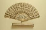 Folding Fan & Box; c. 1910 - fan; LDFAN1989.27 & LDFAN1989.27.5