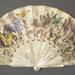 Folding fan with original artwork by Gustave Doré.; ca. 1870s; LDFAN2020.1