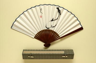 Folding Fan & Box ; Zhu Da (Badashanren), c. 1625-1705; c. 2000; LDFAN2001.49
