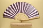 Folding Fan & Box; c. 1880-90 - Fan; LDFAN2011.113.A & LDFAN2011.113.B