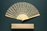 Folding Fan & Box; c. 1900; LDFAN1998.34