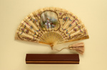 Folding Fan & Box; c. 1900; LDFAN2010.140