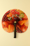 Advertising fan for 'Jus de Fruits' soft drink; RL.B; c. 1990s; LDFAN1999.5