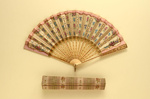 Folding Fan & Box; c. 1910 - fan; LDFAN2009.48.A & LDFAN2009.48.B