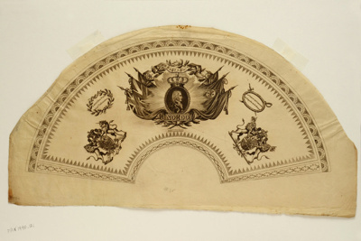 English Fan Leaf ; c.1800; LDFAN1990.12