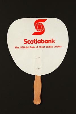 Advertising fan for Scotiabank; LDFAN2004.4