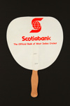 Advertising fan for Scotiabank; LDFAN2004.4