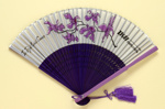 Advertising fan for Thai International Airways' 'Royal Orchid Service'; c. 1970; LDFAN2003.404.HA