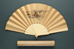 Folding Fan & Box; 1888 - Fan; LDFAN1998.28.1 & LDFAN1998.28.2