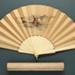 Folding Fan & Box; 1888 - Fan; LDFAN1998.28.1 & LDFAN1998.28.2