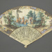Folding fan painted with Christ Calling the Apostles.; ca. 1740s; LDFAN2020.24