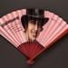 Folding fan featuring the programme for musical 'Mistinguett'; LDFAN2008.31