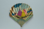 Forme ballon fan advertising Maison Prunier c. 1930; LDFAN2014.17