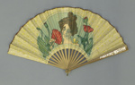 Folding fan advertising Louis Vuitton; c.1900; LDFAN2015.5