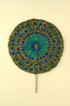 Fixed Feather Fan; c. 1990; LDFAN2012.42