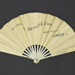 Fan advertising A. Barrett & Sons, London; c. 1911; LDFAN2015.62