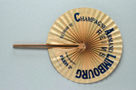 Cockade fan advertising Champagne Limbourg France, c. 1920; LDFAN2013.128 (JS102)