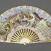 Mother of pearl fan with printed hand-coloured paper leaf - Rossini, Maria Malibran; Vve Garnison; c. 1830; LDFAN2016.102