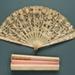 Folding Fan & Box; c. 1900; LDFAN1991.64.1 & LDFAN1991.64.2