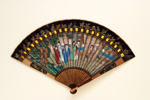 Lacquer painted brisé fan, Chinese; c.1750; LDFAN1994.157