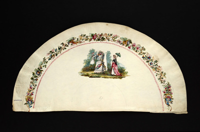 English Fan Leaf; c.1790; LDFAN2010.33