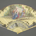 Folding fan painted with Classical subjects; ca. 1740s; LDFAN2020.3