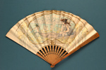 Folding fan advertising Carlton Hotel & Restaurant, London; Duvelleroy, Gendrot, E.; c.1900; LDFAN2013.36.HA