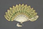 Palmette fan with Begonia Rex Leaves ; c. 1890; LDFAN2019.13