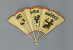 Wooden folding fan advertising Dubonnet c. 1920; LDFAN2014.132