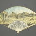 Folding fan painted with a view of St Peter's Square, Rome. ; ca. 1780/90; LDFAN2020.18