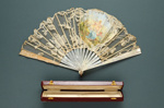 Folding Fan & Box; c. 1900; LDFAN2005.41