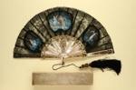Folding Fan & Box; c. 1860; LDFAN2006.72.A & LDFAN2006.72.B