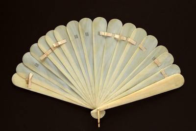 Brisé Fan; c. 1870; LDFAN1994.238