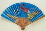 Folding fan advertising Civil Aviation Administration of China (CAAC); c. 1960s; LDFAN1998.31