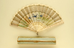 Folding Fan & Box; c. 1930; LDFAN1994.232.1 & LDFAN1994.232.2