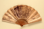 Advertising fan for Taverne Olympia; Eventails Chambrelent; c. 1900; LDFAN2013.19.HA