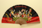 Advertising fan for La Menthe/Peppermint Pastille liqueurs; Ganné, J, Oge, Eugene, Prevel, L; c.1905; LDFAN2003.425.HA