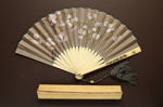Folding Fan & Box; 1880s; LDFAN2006.49.A & LDFAN2006.49.B