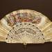 Folding Fan & Box; c. 1860; LDFAN2010.105.A & LDFAN2010.105.B