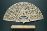 Folding Fan & Box; c.1890; LDFAN2011.93.A & LDFAN2011.93.B