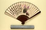 Folding Fan & Box; 2000; LDFAN2001.51.A & LDFAN2001.51.B