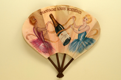 Advertising Fan for Louis Roederer champagne; Bloch, Marcel, Max-Cremnitz; c. 1925-30; LDFAN2011.30