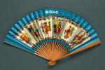 Advertising fan for British Overseas Airways Corporation (BOAC) - 'Speedbird'; Adelman, K. M; c. 1950s; LDFAN1991.44