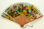Advertising fan for Air France; c. 1950s; LDFAN2003.124.Y